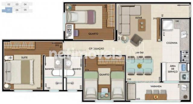 Apartamento à venda com 2 dormitórios em São geraldo, Belo horizonte cod:734309 - Foto 18