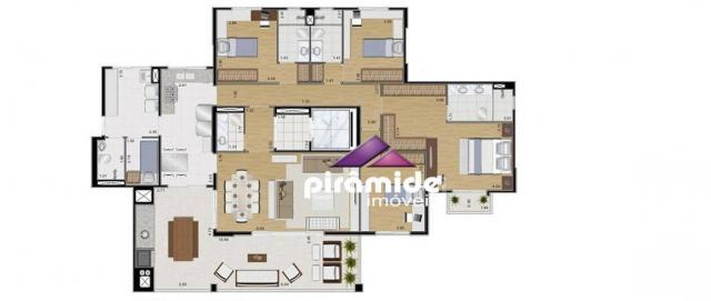 Apartamento com 4 dormitórios à venda, 259 m² por R$ 1.695.000,00 - Jardim das Colinas - S - Foto 11