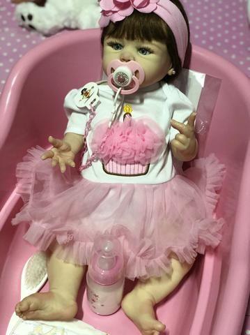 Bebê Reborn hiper realista de silicone parece de verdade - Foto 2