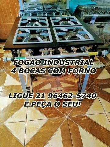 Garanta agora o seu Fogão Industrial de 4 bocas com forno , novo e com garantia!!