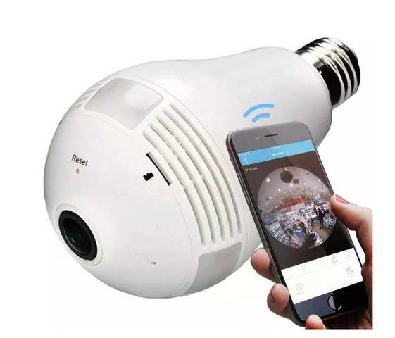Lampada Câmera Espiã Segurança V360 Wifi Panorâmica B13 - Foto 4