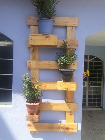 Jardim de plantas - paletes - Foto 2