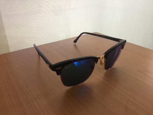 Óculos De Sol Rayban Clubmaster Espelhado Azul - Bijouterias ... 9084c28ab3