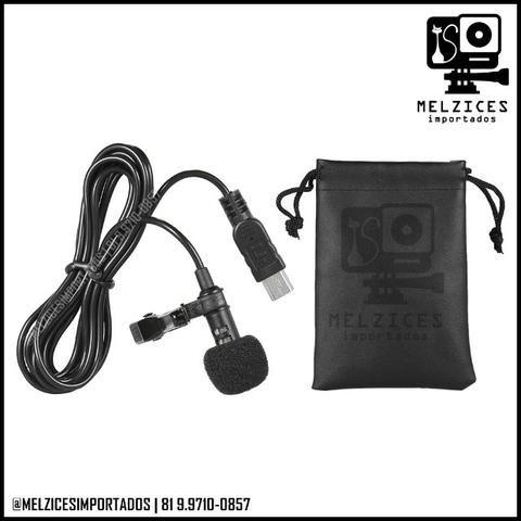 Microfone de Lapela para GoPro Hero 3 e 4