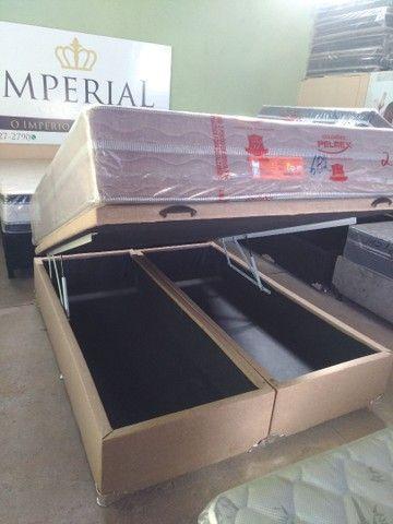 Cama baú novos reforçado box baú ,cama baú ,base baú  - Foto 2