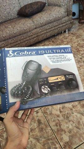 Rádio amador Cobra 19 Ultra III (3) + Antena top novos - Foto 6