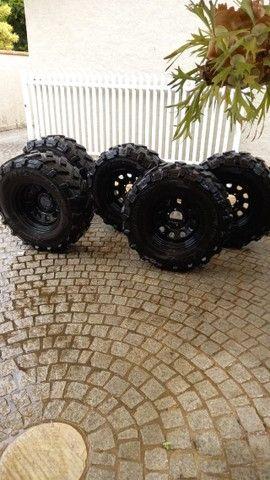 pneu rodas  para jeep willys trilha troller  - Foto 2