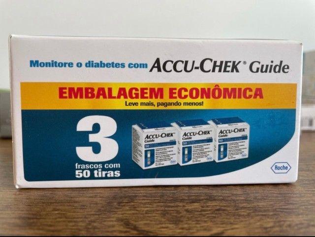 Kit tiras de glicemia Accu chek 150 unidades