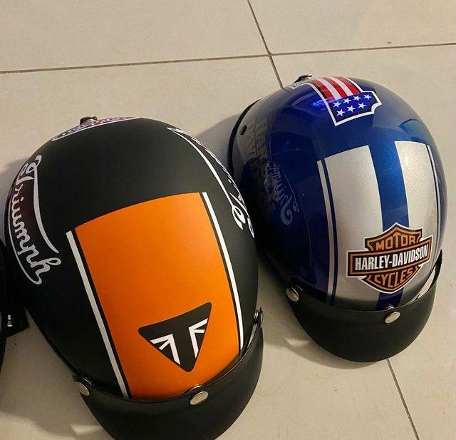 Lindos capacetes Scooter elétrica / bike elétrica / harley elétrica  - Foto 4