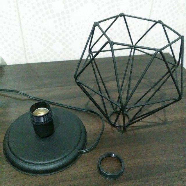 Luminária de mesa - diamante preto  - Foto 5