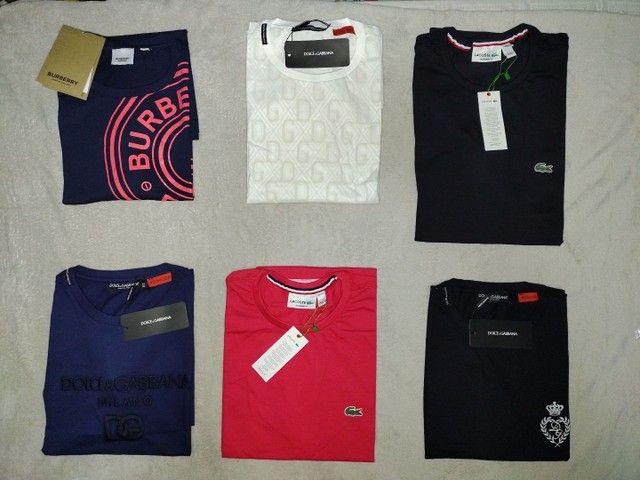 Camisetas masculinas R$ 49,99. Qualquer peça.