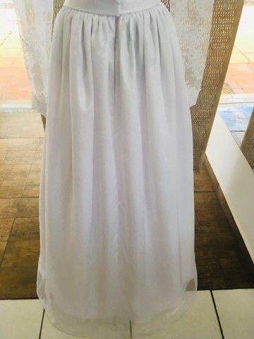 Vestido de noiva NOVO gazar e renda - Foto 6