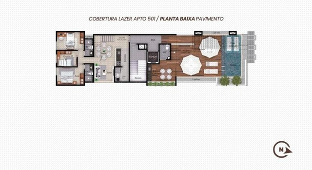 Apartamento Bancários com, 1 ou 3 Quartos com Área de Lazer na Cobertura - Em Construção! - Foto 9