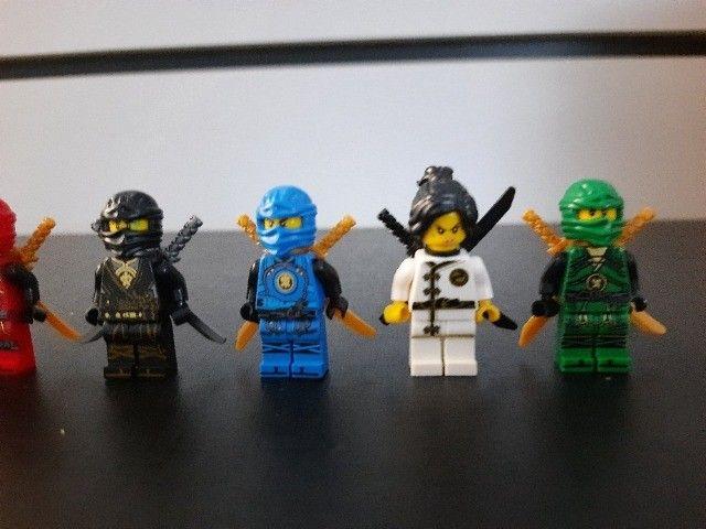 Blocos de Montar Ninjago com 8 Mini Personagens Compatíveis com Lego Novos - Foto 2