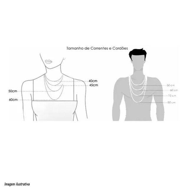 Corrente Masculina Feminina Cordão 60cm Pingente Cruz De Ouro 18k Banhado  - Foto 3