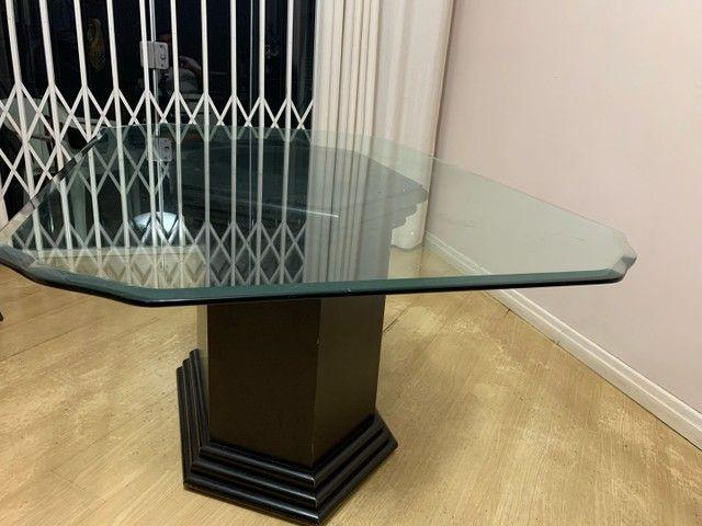 Mesa de jantar tampo de vidro retangular 1,60x1,00x0,78  - Foto 3