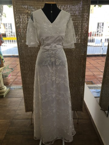 Vestido de noiva NOVO renda manga