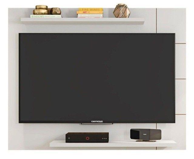 Painel Cross Caemmun Branco Brilhante TV Até 58 '' - Foto 4