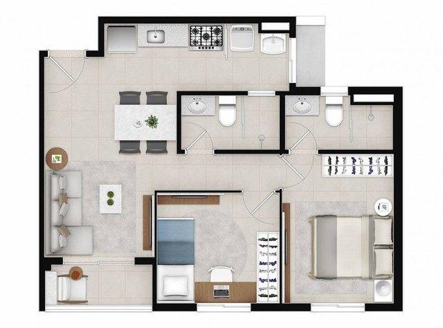 Apartamento para venda com 48 metros quadrados com 2 quartos - Foto 18