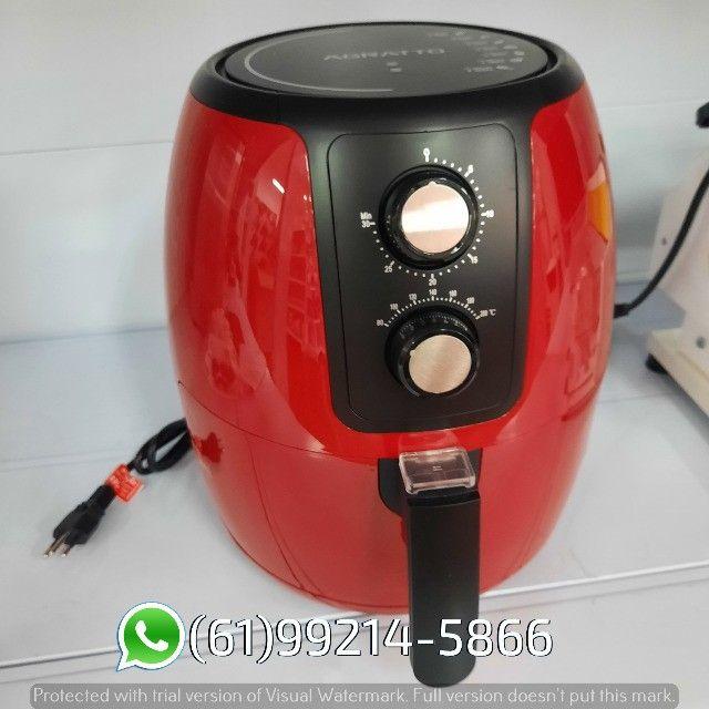 Fritadeira Elétrica Air Fryer cor Vermelha Supremma 3,6 Litros Agratto - Foto 3