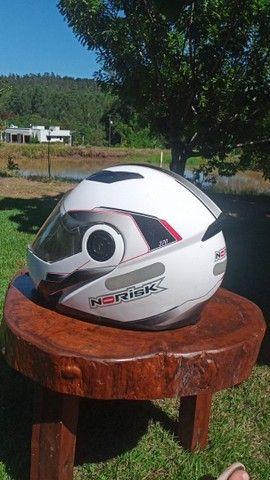 Capacete Norisk 370 escamoteável branco - Foto 3