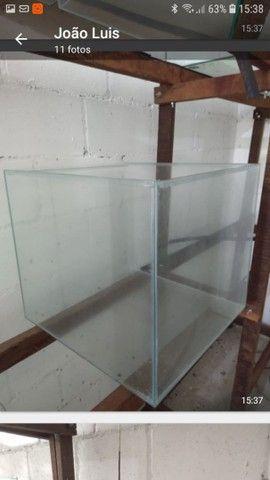 Aquário 50x50x45 vidro de 5mm -112 litros - Foto 3