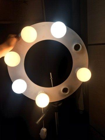 Ring light com 6 lâmpadas led inclusas