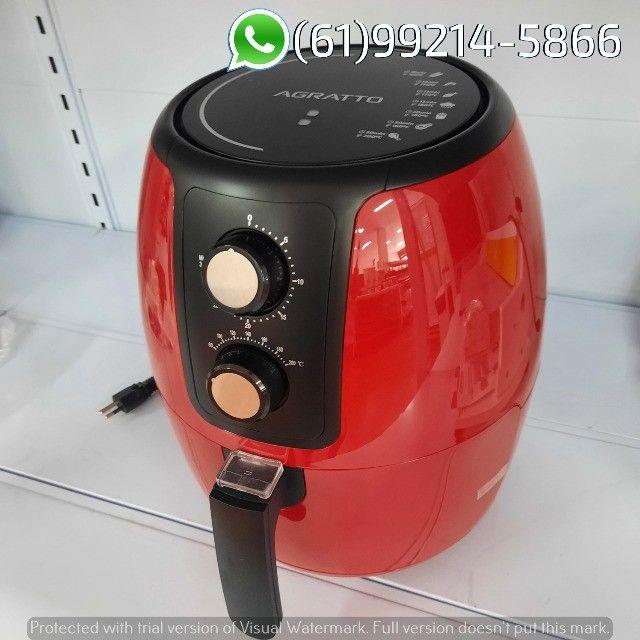 Fritadeira Elétrica Air Fryer cor Vermelha Supremma 3,6 Litros Agratto - Foto 5
