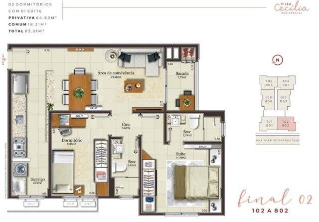 Apartamento à venda com 2 dormitórios em Centro, Criciuma cod:60724.483 - Foto 9