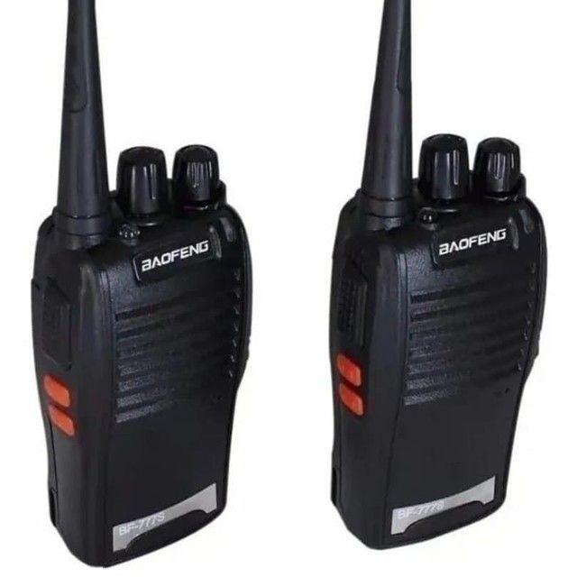 Kit 2 Radio Comunicador Walk Baofeng 777s  C/ Fone - Foto 3