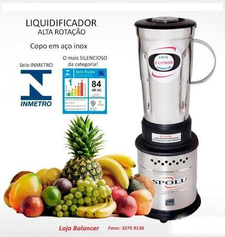 Liquidificador Industrial 2 Litros Alta Rotação Spolu 9  * Novo