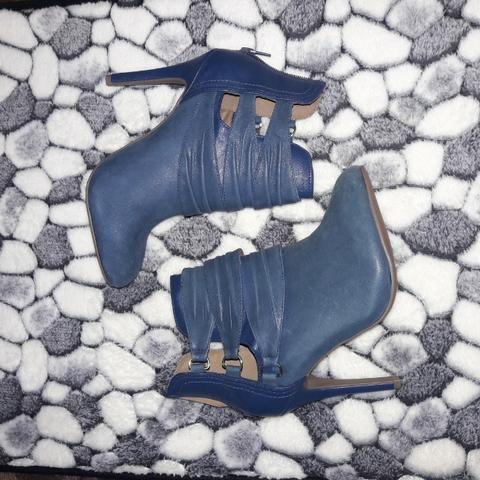 Bota Cano Curto Ramarin 37, Cor Azul