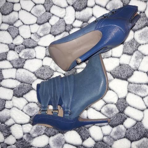 Bota Cano Curto Ramarin 37, Cor Azul - Foto 2