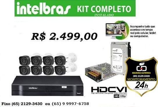 Kit 08 Câmeras Intelbras Instalados