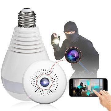 Lampada Câmera Espiã Segurança V360 Wifi Panorâmica B13 - Foto 3