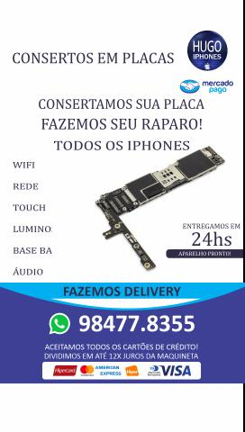 Reparos de Placas em Iphones