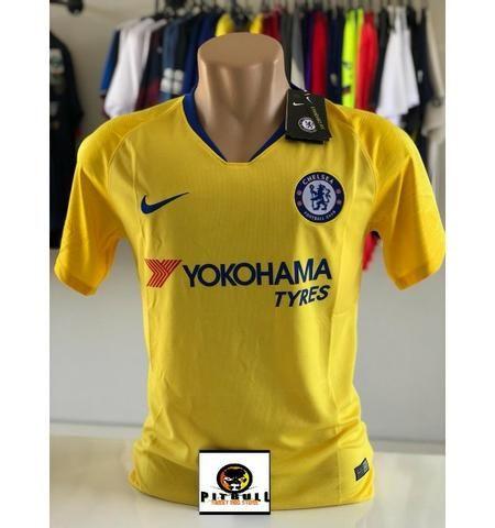 Camisa Chelsea Away 2018 s n° - Torcedor Nike Amarelo e Azul tam. G ... 3f05cace14ceb