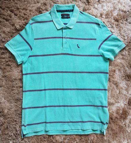 89fbb37a78 Camisa polo Reserva listrada verde água G original - Roupas e ...
