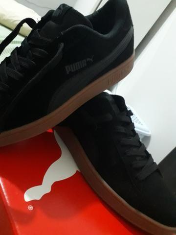 Tênis Puma black Smash v2 número 39 serve 40 - Roupas e calçados ... d8a40550ca288