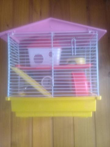 Casa de hamister com um hamister branco macho - Foto 4