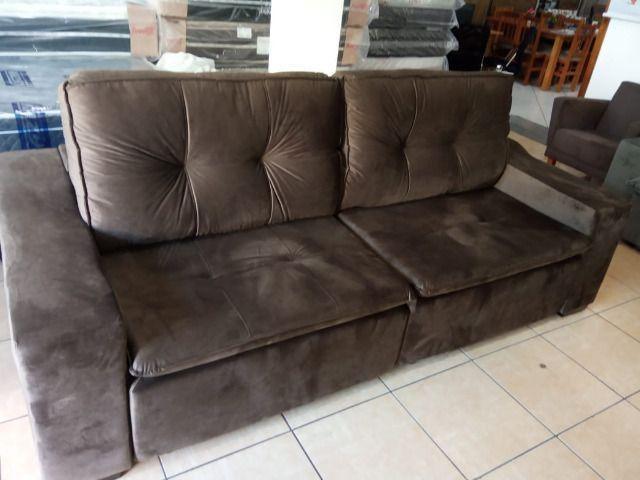 Sofa reto 2,50 retrátil e reclinável - Foto 5