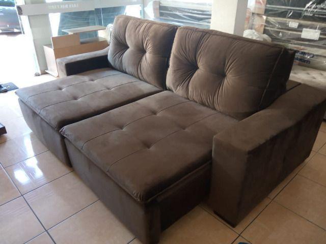 Sofa reto 2,50 retrátil e reclinável - Foto 3