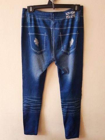 Calça legging jeans M/G - Foto 2