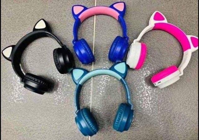 Fone de Gatinho Bluetooth -  Seu som com mais estilo! - Foto 2