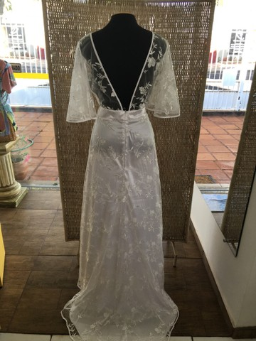 Vestido de noiva NOVO renda manga - Foto 3