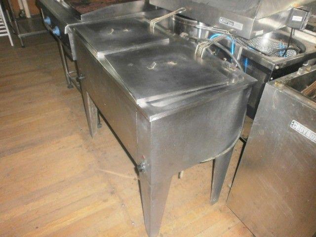 fritadeira industrial - agua e óleo - dupla - 220 volts - inox - Foto 3