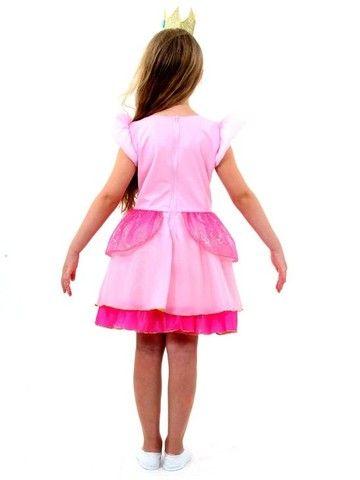 fantasia princesa peach infantil - super mario world - Foto 3