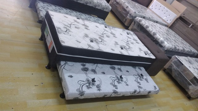 Cama box solteiro espuma com auxiliar - Novo - Foto 3