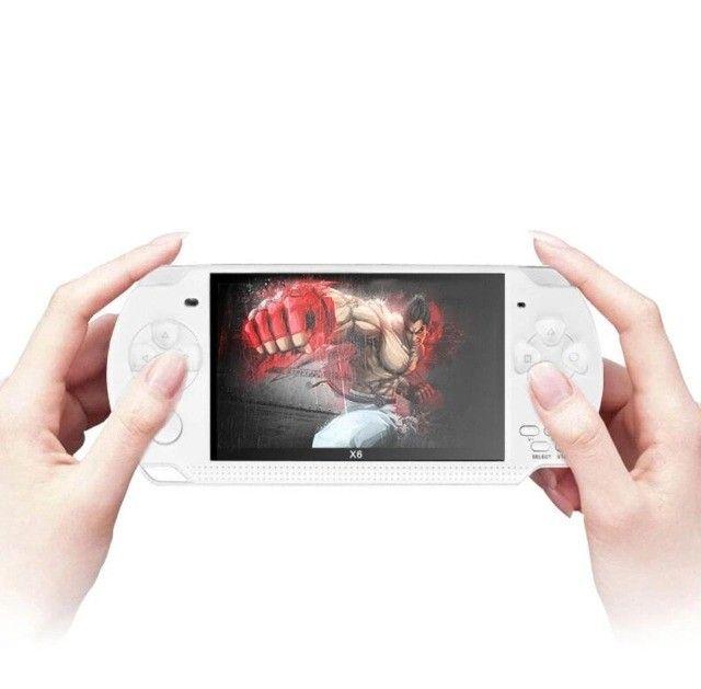 Console De Jogos Portátil Psp X6 Video Game Com 10000 Jogos - Foto 2
