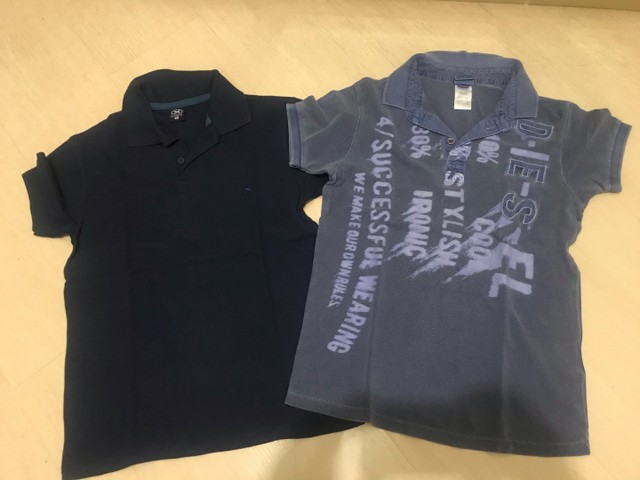 Camisas polo infantil Diesel e Hering